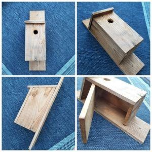 "Birdhouse cedar side door clean out, 1.25"" hole"